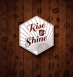 Cutout paper style on a wooden background vector image