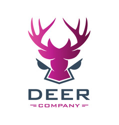 deer head animal logo design your company vector image