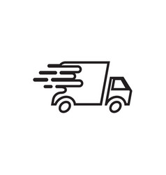 delivery truck icon design template isolated vector image