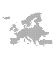 Detailed map of Europe in the dot vector image