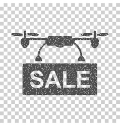 Drone Sale Grainy Texture Icon vector