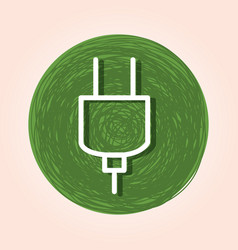ecology plug energy icon vector image