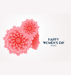 Elegant happy womens day flower face concept vector