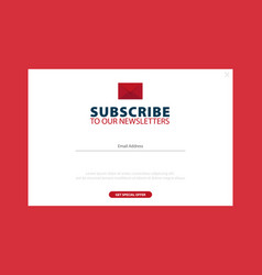 Email subscribe online newsletter submit button vector