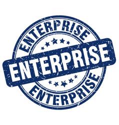Enterprise blue grunge stamp vector