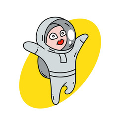 female astranaut vector image