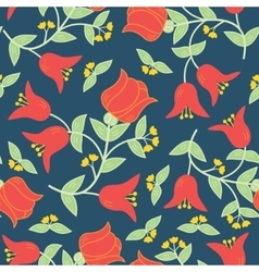 flowers seamless pattern in traditional vector image