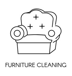 Furniture cleaning service company clean vector