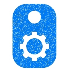 Gear Tag Grainy Texture Icon vector