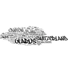 Glarus word cloud concept vector