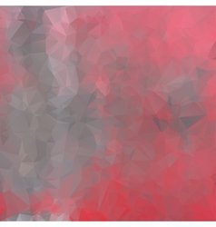 gray polygon red background vector image
