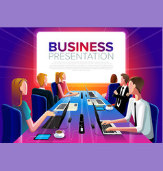 group business meeting vector image