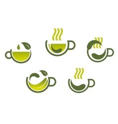 Herbal tea symbols vector