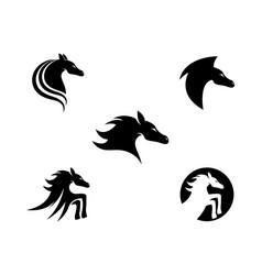 horse logo template icon vector image