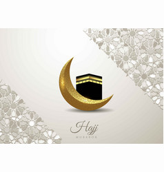 Islamic design hajj greeting card template vector
