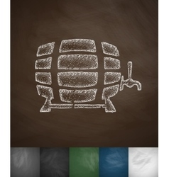 Keg of beer icon vector
