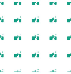 Landscape icon pattern seamless white background vector