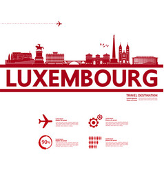 Luxembourg travel destination vector