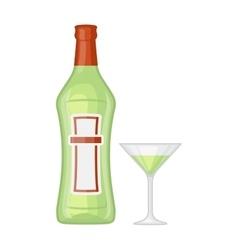 Martini bottle vector