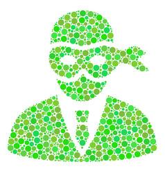Masked thief mosaic of circles vector