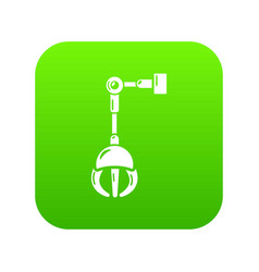Mechanical grabber icon simple style vector