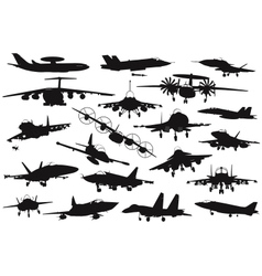 Military aircrafts set vector
