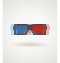 Modern 3d cinema glasses vector