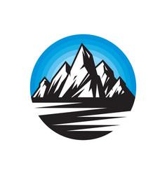 Mountains - logo concept vector