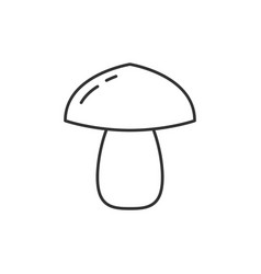 mushroom outline icon vector image