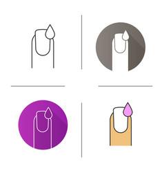 Nail polishing icon vector