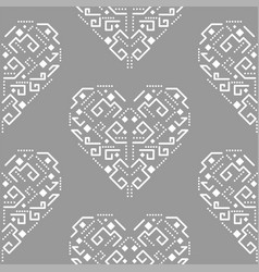 Navajo heart shape ornament seamless vector
