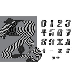 Numbers ribbon vector