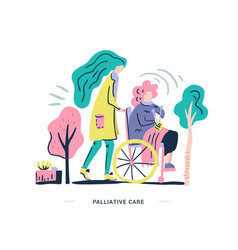 palliative care vector image