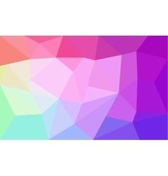 Rainbow colors triangular pattern vector image