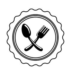 Restaurant cutlery symbol vector
