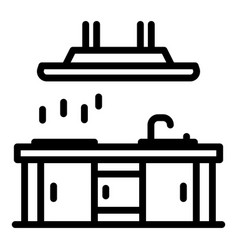 restaurant kitchen icon outline style vector image