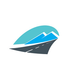 Road in mountains icon highway travel transport vector