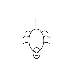 scary spider icon vector image