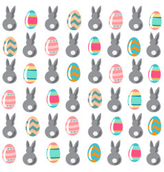 seamless simple pattern with decorativel eggs and vector image