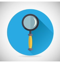 Search symbol magnifying glass loupe icon vector