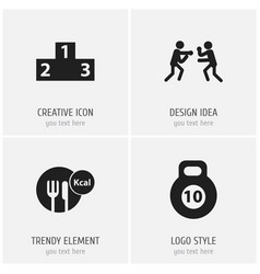 set of 4 editable lifestyle icons includes vector image