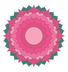 Simple lotus flower mandala coloring book colored vector