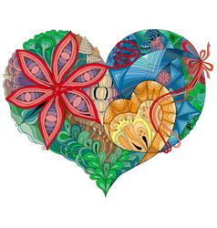 sketchy doodle heart sketchy doodle heart vector image