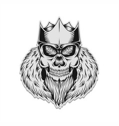 skull king vector image