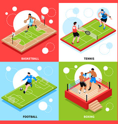 Sport court field ring concept vector