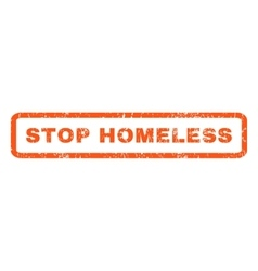 Stop Homeless Rubber Stamp vector