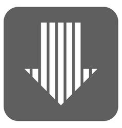 Stripe Arrow Down Flat Squared Icon vector