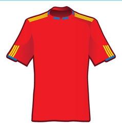T-shirt of soccer of spain vector