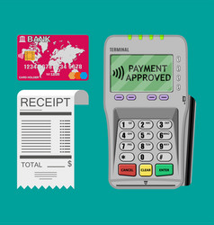 terminal receipt card vector image