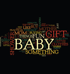 The best baby shower gift ideas text background vector